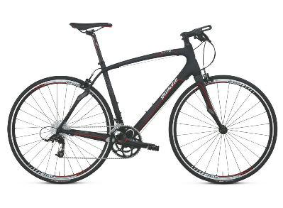 As part of the trend towards higher performance comfort, Specialized offers the Sirrus line of more upright road bikes with flat, mountain-bike style handlebars at prices from $500-$5,000.