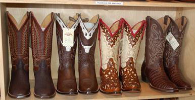 The unique designs, elaborate stitching, fine leathers, and entirely handmade process make the boots... [+] at Heritage in Austin collectible - and bargains to boot!