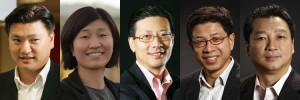 Some Chinese VCs on 2013 Midas list (from left to right): Hans Tung, Jenny Lee, Neil Shen, Quan Zhou... [+] and Suyang Zhang.