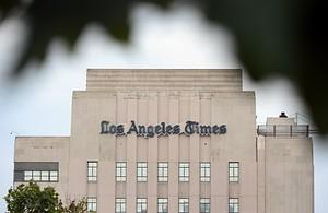 The Los Angeles Times Building in downtown Los...