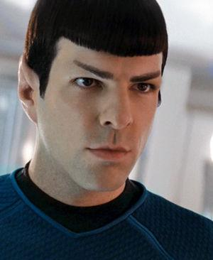 Zachary Quinto as Spock in the 2009 Star Trek film