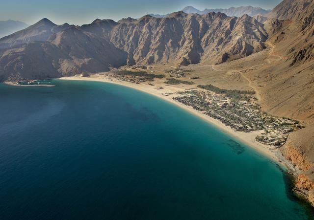 Aerial View Of Zighy Bay. All Photos Courtesy of Six Senses Zighy Bay