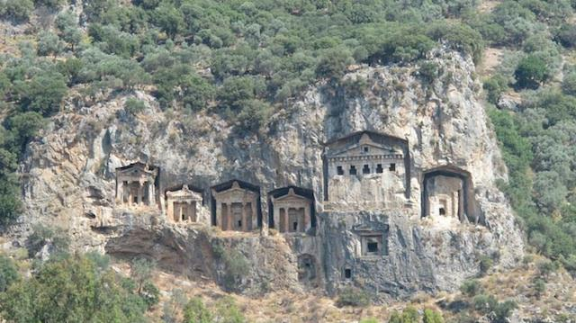 The Ancient Rock Tombs Of Lycian As Viewed Along The Dalyan River. Photo Credit: Lisa Loverro