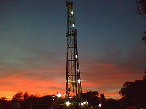 English: Swanson Drilling making hole in south...
