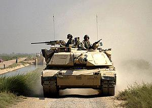 M1A1 conducts reconnaissance in Iraq in Septem...