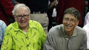 Top givers Warren Buffett and Bill Gates