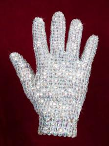 Lady Gaga bought a Jackson crystal glove: photo courtesy of Julien's Auctions.