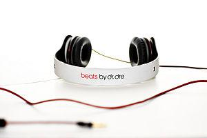 Taking a picture of my friend's Dr. Dre Beats:...