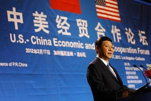 Chinese Vice President Xi Jinping speaks at th...