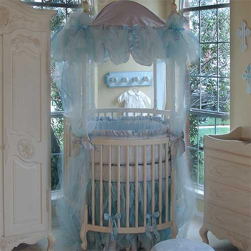 Poshtot S Royal Style Prince Of Monaco Baby Bedding Comes With Lavish Blue Tulle