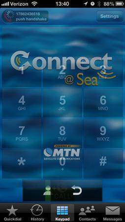The MTN Connect at Sea application replicates cellular service at a significantly lower cost. It can... [+] be installed on any iOS or Android device that has WiFi capability.