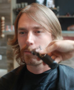 Axford is shaved with a Wahl for Movember