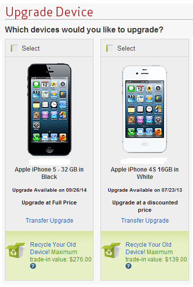 Iphone trade in options