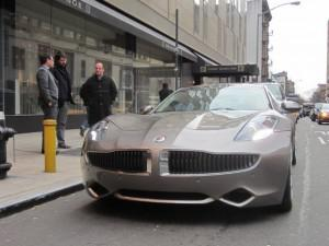 Click the photo to see a slideshow of the Fisker Karma in New York City >