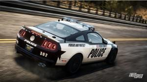 Ford Mustangs are on both sides of the law in ″Need for Speed Rivals.″ Players can choose a Shelby GT500 cop car shown in this screen shot from the game.