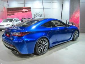 Lexus stuck with a V8 in its new RC F coupe, bucking the downsizing trend. (Credit: Matthew de Paula)