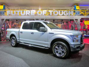 Ford's all-new F-150 has an aluminum body to save weight. (Credit: Matthew de Paula)