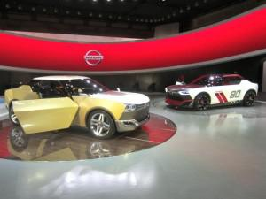 "The Nissan IDx Freeflow (left) and Nismo were conceived with the help of ""digital natives,"" or those born before 1990. (Credit Matthew de Paula)"