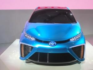 Toyota is targeting a price of between $50,000 to $100,000 for its first production fuel-cell vehicle, which will be based on the FCV concept shown here. (Credit: Matthew de Paula)