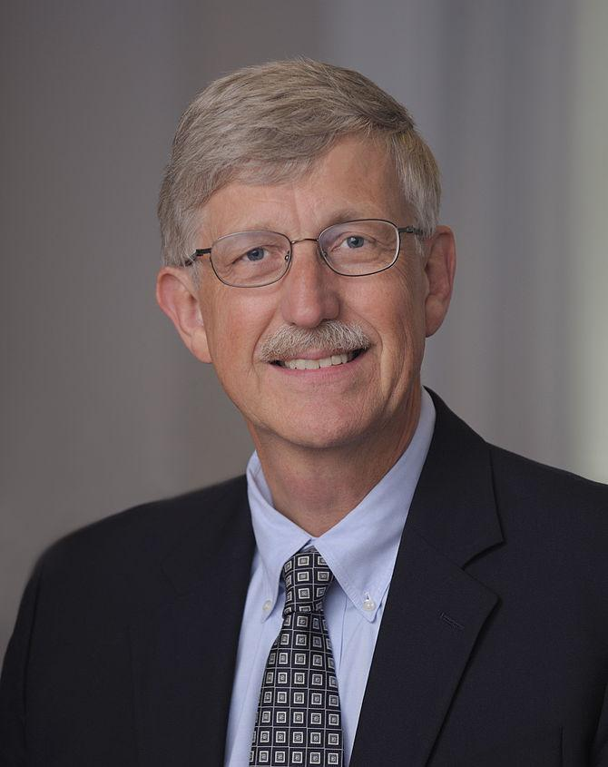 Official portrait of NIH Director .