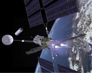 VASIMR-powered space tug targets drifting rocket stage. Source: Ad Astra.