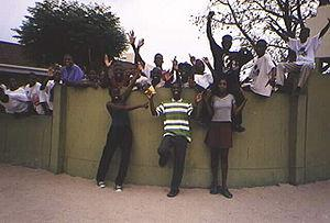 Secondary school students, Namibia, 2001
