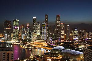 English: View of the Singapore Skyline.