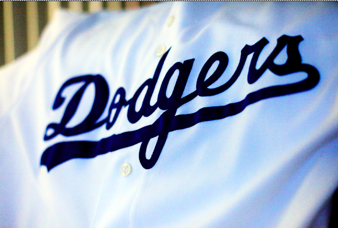 English: Dodgers Uniform Script
