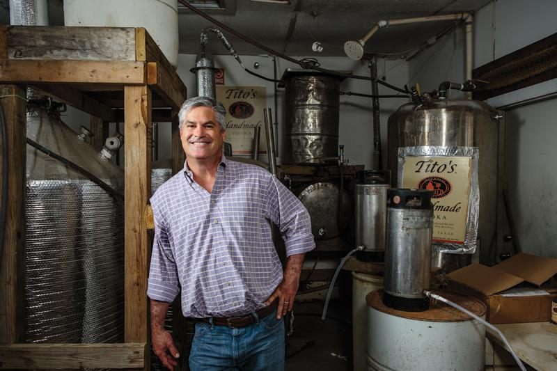 "The man with the plan: Bert ""Tito"" Beveridge and his homemade still. Credit: Michael Thad Carter For... [+] Forbes"