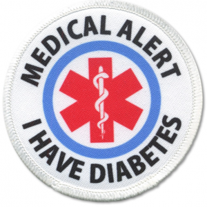 A medical alert patch for clothing; diabetes currently affects 25.8 million Americans