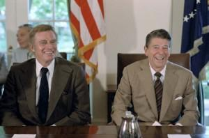 Caption: Former President Ronald Reagan and Actor Charleton Heston both developed Alzheimer's Disease (wikimedia)