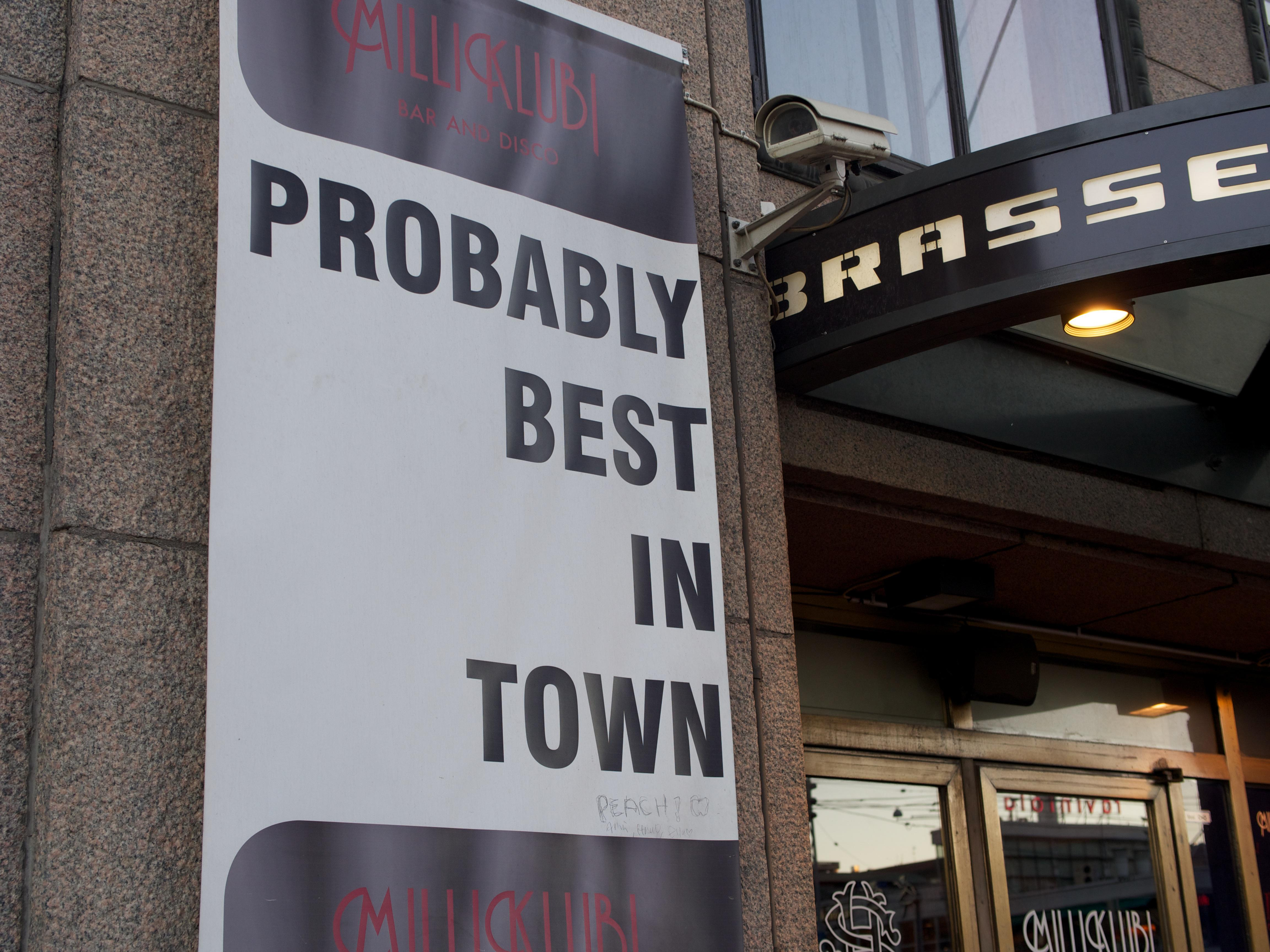 Probably Best (sign) – © Micah Solomon - micah@micahsolomon.com