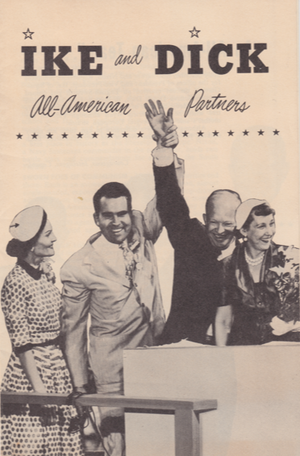 English: Campaign brochure for the Eisenhower/...