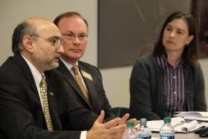 Cato senior fellow Jagadeesh Gokhale predicts ObamaCare's rollout will cause ″utter chaos″ at a Kansas Policy Institute forum in February 2013. Photo credit: Kansas Policy Institute.