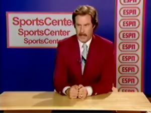 Ron's SportsCenter audition.