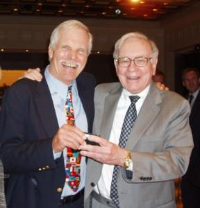 Warren Buffett giving Ted his wallet © Shearon Glover