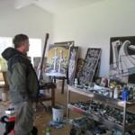Nigel Brown in his Studio © Jane Gray Morrison