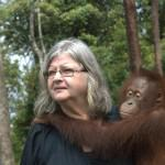 Dr. Birute Galdikas and Friend © M. C. Tobias
