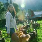 Ms. Tashi Payden Tshering, Executive Director, RSPCA-Bhutan, and rescued Friends © M. C. Tobias