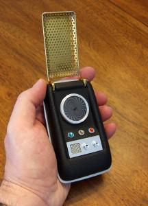 "Reproduction of Wah Chang's Communicator for Desilu Productions' ""Star Trek"" television series.... [+] Image courtesy of David B. Spalding. CC BY-SA 3.0"