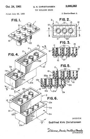 Lego brick schematic signed by Godtfred Kirk Christiansen. Image courtesy of The Lego Group