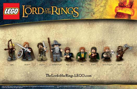 The heroes from the 2012 product line Lego The Lord of the Rings. Image courtesy of The Lego Group
