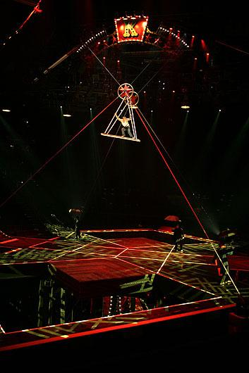 High-flying act with aerialists. Photo courtesy of Cirque du Soleil