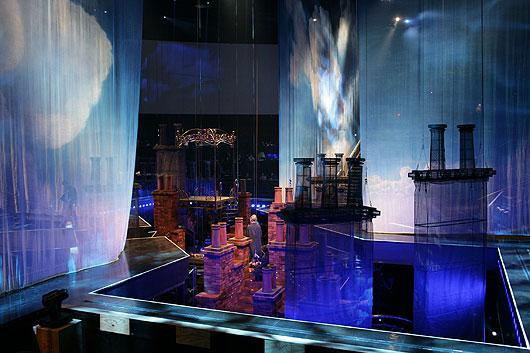 Act showing good view of central stage surrounded by curtained partitions. Photo courtesy of Cirque... [+] du Soleil