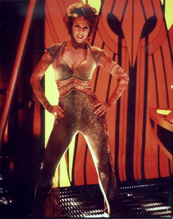 Chase Masterson as Leeta, in Quark's Bar. Image courtesy ChaseMasterson.com