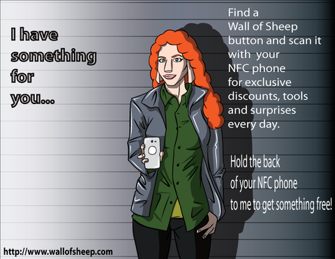 NFC-tagged poster used in NFC Awareness Project. Image courtesy Wall of Sheep