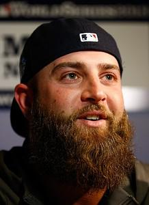 BOSTON, MA - OCTOBER 22:  Mike Napoli #12 of t...
