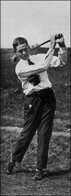 Bobby Jones at the age of 14, playing in the 1...