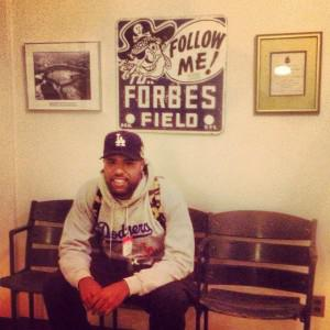 Dom Kennedy at the Forbes office (via Instagram, @natrobe)