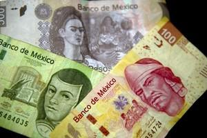 Picture of Mexican Peso notes of different den...